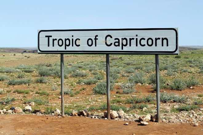 Tropic of Capricorn Sign, Solitaire, Namibia
