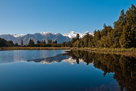 Lake Matheson Walk, Fox Glacier, New Zealand