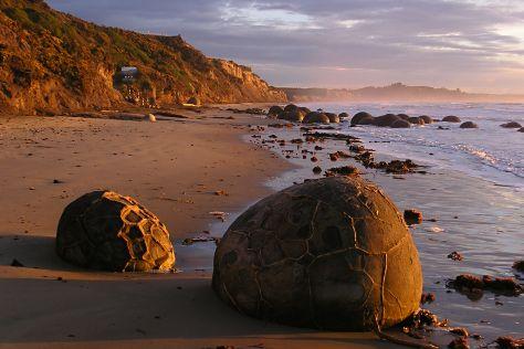 Moeraki Boulders Beach, Oamaru, New Zealand