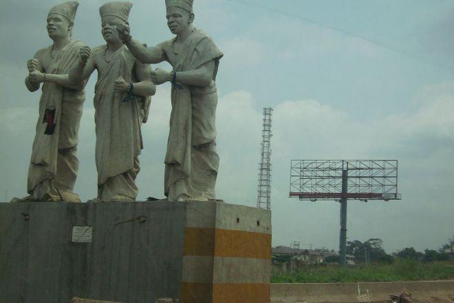 The Eyo of Eko Statue, Lagos, Nigeria