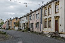 The Historical Sjoegata Street, Mosjoen, Norway
