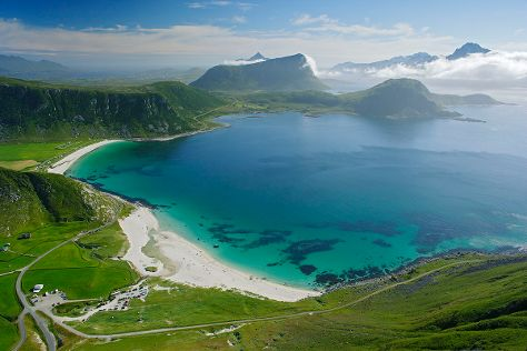 Haukland Beach, Leknes, Norway