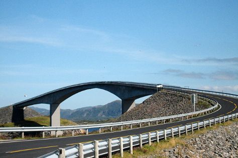 Storseisund Bridge, Averoy Municipality, Norway