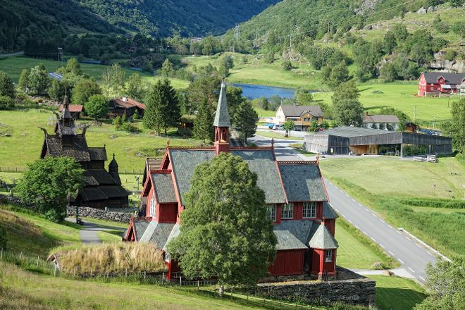 Borgund Stave Church, Laerdalsoyri, Norway