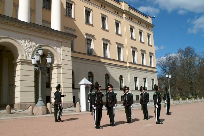 Changing of the Guard at the Royal Palace, Oslo, Norway