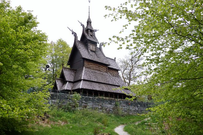 Fantoft Stavkirke, Bergen, Norway