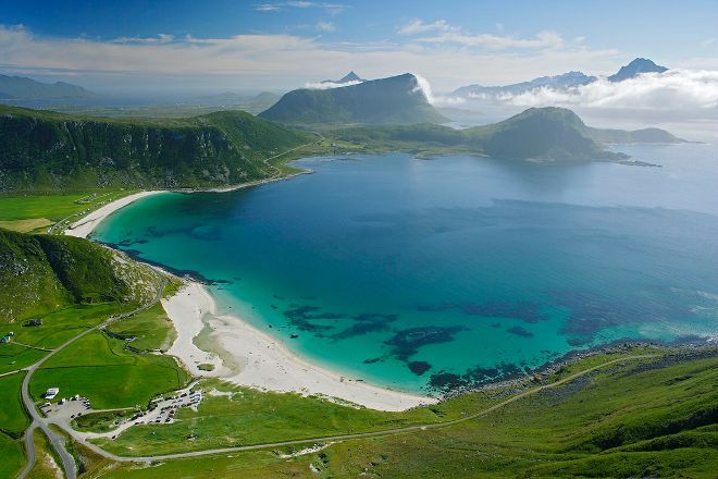 Haukland Beach, Leknes, Norway