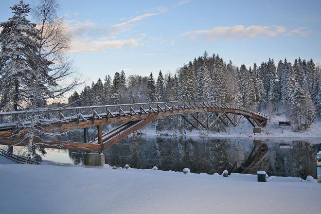Kjaerra Fossepark (Waterfall Park), Larvik, Norway