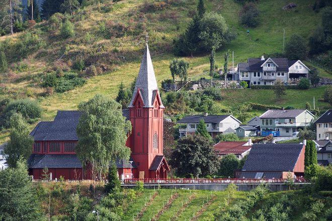Stedje Church, Sogndal Municipality, Norway