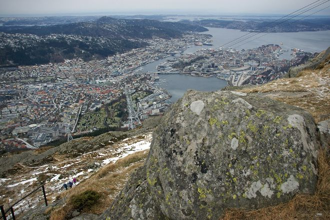Vidden Trail between Mt. Floyen and Mt. Ulriken, Bergen, Norway
