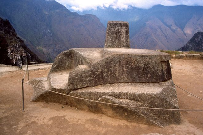 Intihuatana Stone, Machu Picchu, Peru