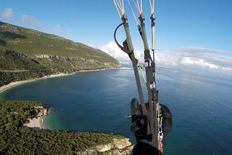 Paragliding Portugal, Costa da Caparica, Portugal
