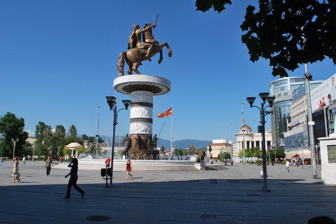 Macedonia Square, Skopje, Republic of North Macedonia