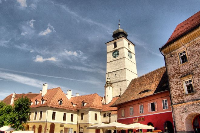 Turnul Sfatului (The Tower of the Council), Sibiu, Romania