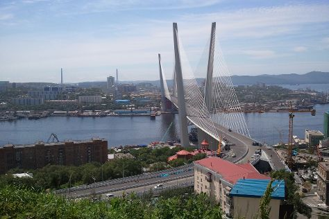 Golden Bridge, Vladivostok, Russia