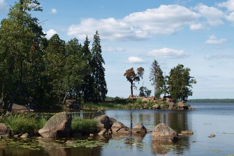 Monrepos Park, Historical, Architectural and Natural Museum Preserve, Vyborg, Russia