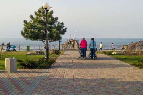 Zelenogradsk Promenade, Zelenogradsk, Russia