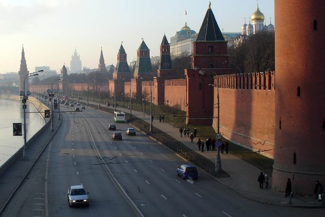 Kremlin Walls and Towers, Moscow, Russia