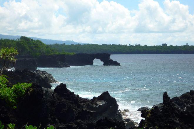 Coastal Lava Cliff Walk, Upolu, Samoa
