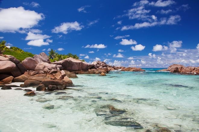 Anse Coco Beach, La Digue Island, Seychelles
