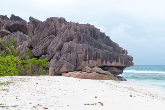 Anse Grosse Roche Beach, La Digue Island, Seychelles