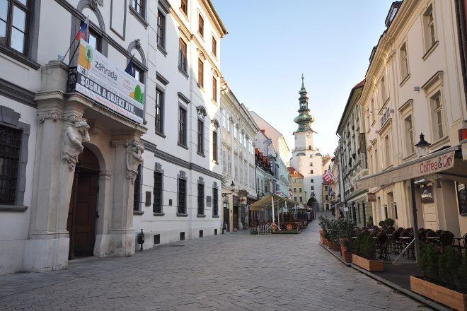 St. Michael's Tower & Street, Bratislava, Slovakia