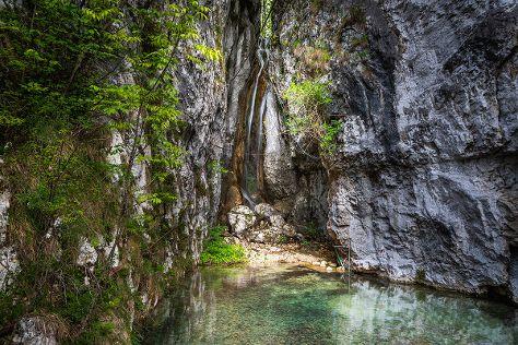 Iglica Waterfall, Bohinjska Bela, Slovenia