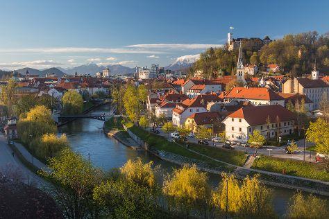 Ljubljana Old Town, Ljubljana, Slovenia