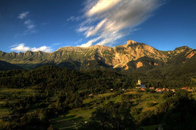 Drežnica Village, Kobarid, Slovenia