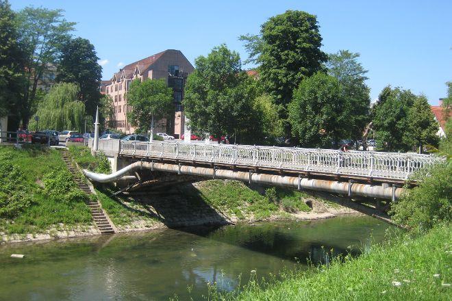 Hradecky Bridge, Ljubljana, Slovenia