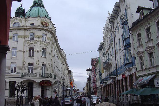 Miklosiceva Street, Ljubljana, Slovenia