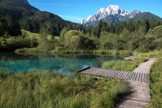 Zelenci Nature Reserve, Kranjska Gora, Slovenia