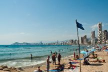 Playa de Levante, Benidorm, Spain