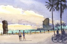 Watercolor Painting Day Course, Barcelona, Spain
