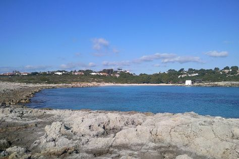Playa de Binibeca Nou, Sant Lluis, Spain