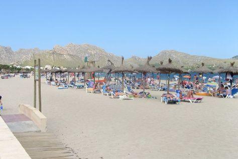 Playa del Puerto de Pollensa, Port de Pollenca, Spain