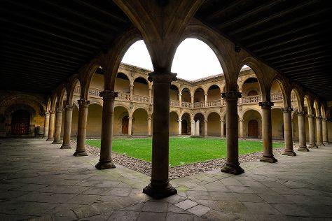 Universidad de Sancti Spiritus desde la Oficina de Turismo de Onati, Onati, Spain