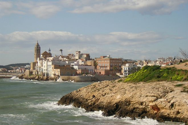 Playa Balmins, Sitges, Spain