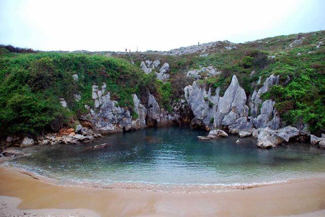 Playa de Gulpiyuri, Llanes, Spain
