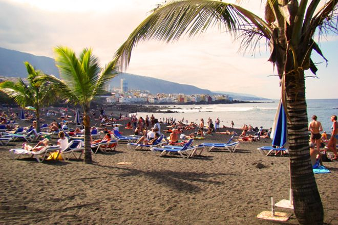 Playa Jardin, Puerto de la Cruz, Spain