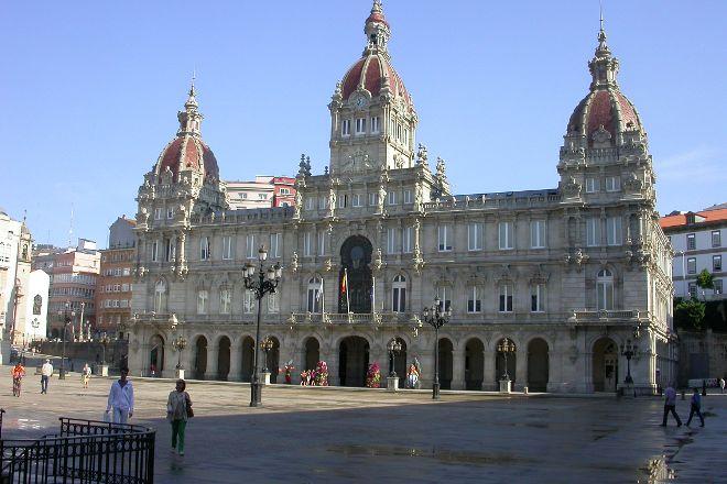Praza de Maria Pita, La Coruna, Spain
