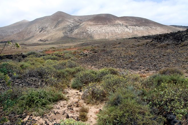 Vulkan Caldera Blanca, Lanzarote, Spain