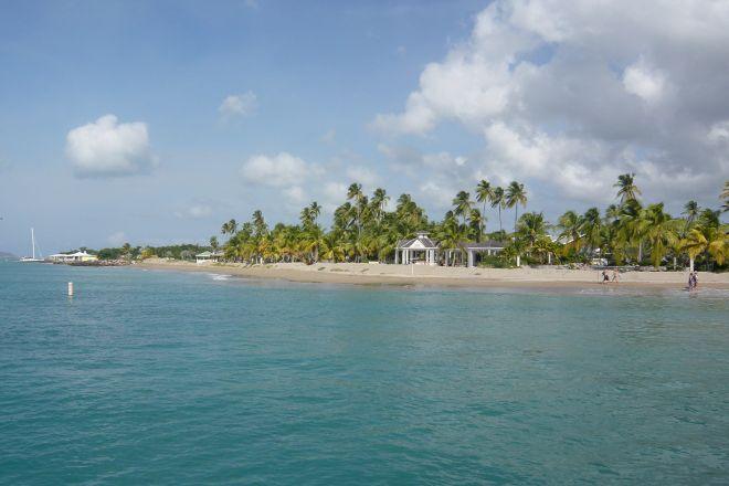 Pinney's Beach, Charlestown, St. Kitts and Nevis