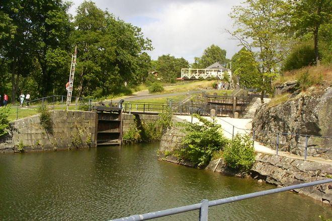 Trollhätte Canal, Trollhattan, Sweden