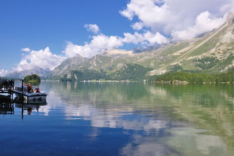 Lake Sils, Sils im Engadin, Switzerland