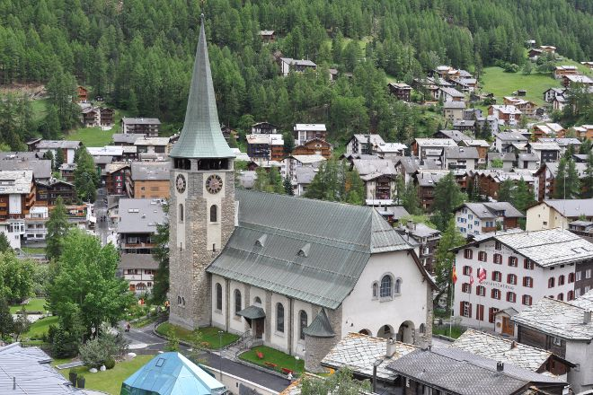 Parish Church of St. Mauritius, Zermatt, Switzerland