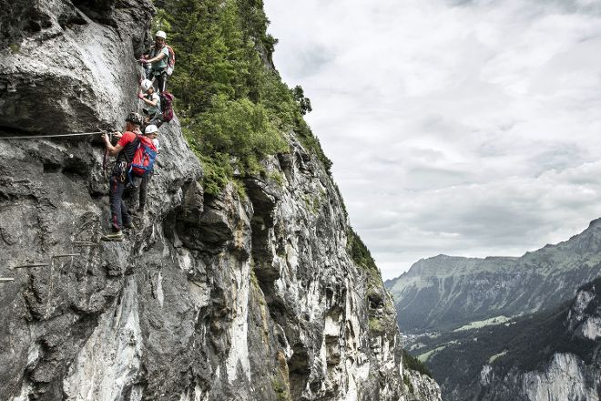 Via Ferrata, Murren, Switzerland