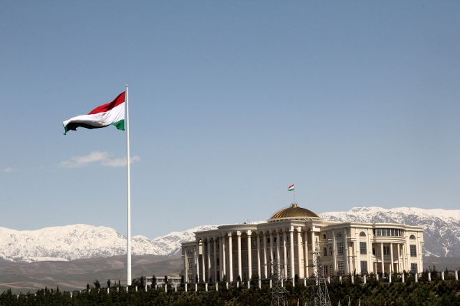 Flagpole with the Flag of Tajikistan, Dushanbe, Tajikistan