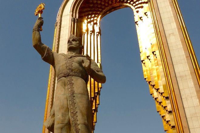Statue of Ismoil Somoni, Dushanbe, Tajikistan