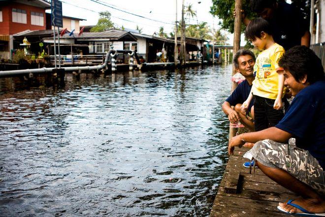 Small Teak Boat Canal Adventure, Bangkok, Thailand